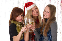 Congratulation with new year and christmas Stock Photography