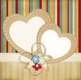 Congratulation  retro background Royalty Free Stock Images