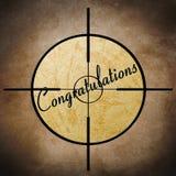 Congratulation target Stock Photos