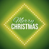 Congratulation to Christmas with green lights Royalty Free Stock Photo
