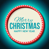Congratulation to Christmas with Night retro Royalty Free Stock Photo