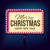Congratulation to Christmas with Night retro Royalty Free Stock Photos