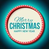 Congratulation to Christmas with Night retro Stock Photo