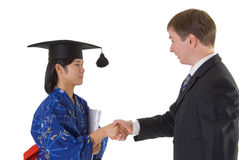 Congratulation to graduate Stock Photo