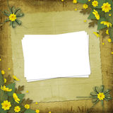 Congratulation to the holiday with paper Royalty Free Stock Image