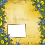 Congratulation to the holiday with paper Stock Images