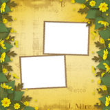 Congratulation to the holiday with paper Stock Photo
