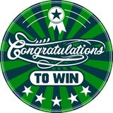 Congratulation to win, words of the great soul design vector illustration