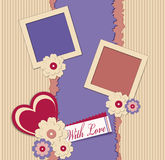 Congratulation vector background with photo frames Royalty Free Stock Image