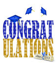 Congratulations for 2013 grads. Bold graphics for 2013 graduate congratulations Royalty Free Stock Photos