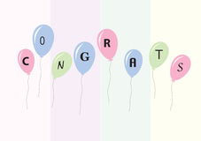 Congratulations. Written on some balloons Royalty Free Stock Images