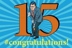 Congratulations 15 anniversary event celebration Stock Photography
