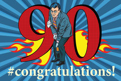 Congratulations 90 anniversary event celebration Royalty Free Stock Photos