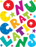 Congratulations background. Bright and cheerful congratulatory background Stock Images
