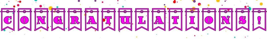 Congratulations Banner Design 03 - White Background vector illustration