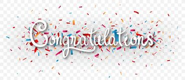 Free Congratulations Banner , Isolated On Transparent Background Stock Photography - 112951502