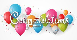 Free Congratulations Banner With Balloon Royalty Free Stock Images - 121543939