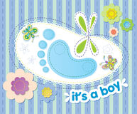 With congratulations on the birth of a boy Stock Photo