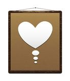 Congratulations board for Valentine's day Royalty Free Stock Image