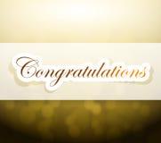 congratulations bokeh light sign Stock Images