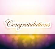 congratulations bokeh light sign Stock Image