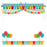 Congratulations with bunting flags image stock image