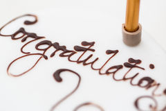 Congratulations on a cake Royalty Free Stock Images