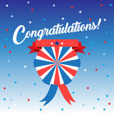 Congratulations. Calligraphy inscription Patriotic card design. For Independence Day, Veteran Day, Patriot Day, Election Day. Vector illustration. Patriotic stock illustration