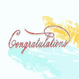 Congratulations calligraphy. Stock Images