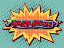 Congratulations candy sweets. Pop art retro style Royalty Free Stock Image