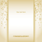 Congratulations card Royalty Free Stock Image