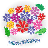 Congratulations card Royalty Free Stock Photos