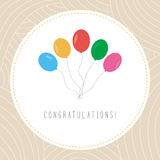 Congratulations card1 Royalty Free Stock Images