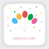 Congratulations card2 Royalty Free Stock Images