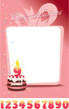Congratulations Card or Flayer with Cake Stock Image