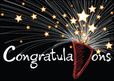 Congratulations card Royalty Free Stock Photography