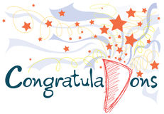 Congratulations card Stock Photo