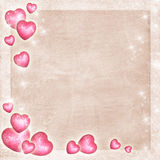 Congratulations Card with Hearts Royalty Free Stock Photos