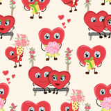 Congratulations card with hearts for Valentines Day collection. Royalty Free Stock Photo
