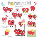 Congratulations card with hearts for Valentines Day collection. Stock Photography