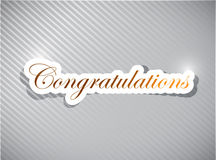 Congratulations card illustration design. Over a white background Royalty Free Stock Photos