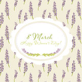 Congratulations card. 8 march Royalty Free Stock Image