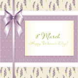 Congratulations card. 8 march Royalty Free Stock Images