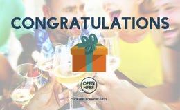 Congratulations Celebration Congrats Greeting Concept.  stock image