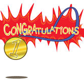 Congratulations Champion Number One Stock Photography