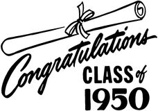 Congratulations Class Of 50 Royalty Free Stock Images