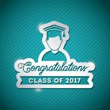 Congratulations class of 2017 card. Congratulations classof 2017 card illustration design royalty free illustration