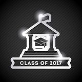Congratulations class of 2017 card. Congratulations classof 2017 card illustration design Stock Illustration