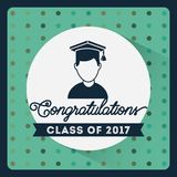 Congratulations class of 2017 card. Congratulations classof 2017 card illustration design Vector Illustration