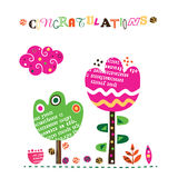 Congratulations collage inspired floral design Stock Image